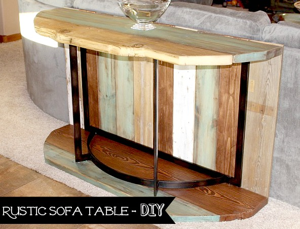 rustic sofa table diy
